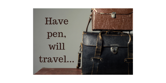 Have pen, will travel...